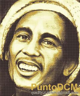 Bob Marley Cross Sch Pattern   Bob Marley En Patrones Punto De Cruz