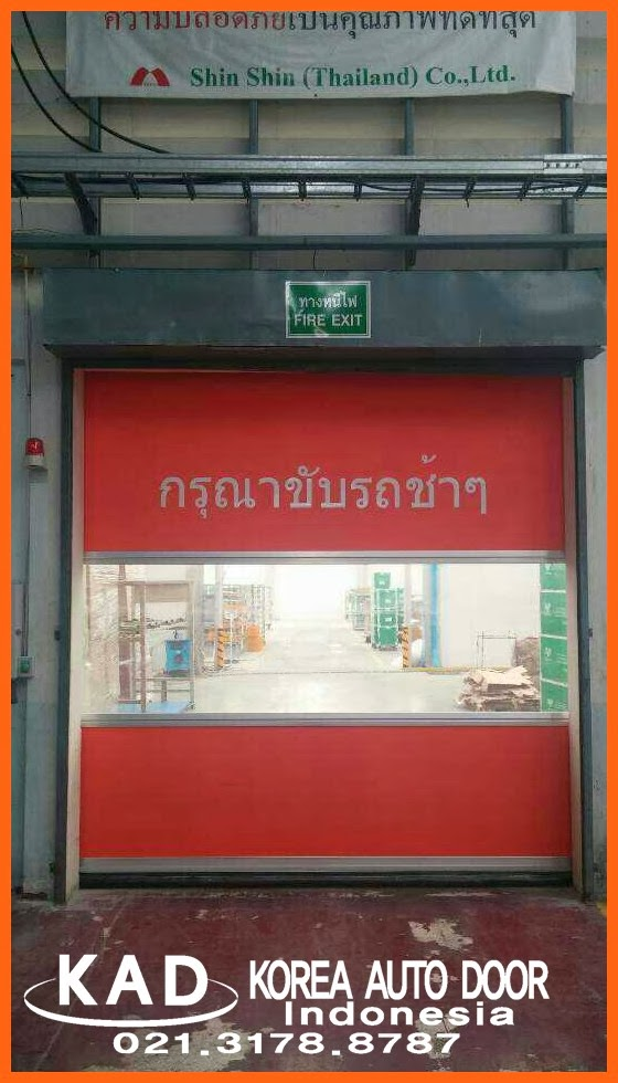 high speed door in shin shin co. in thailand