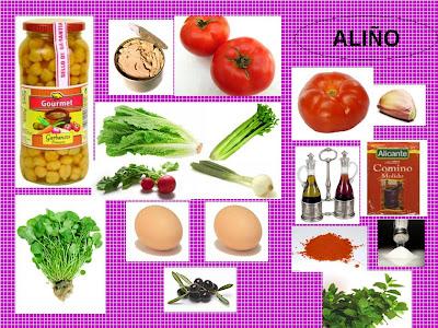 Pa mojar pan patatas verduras y hortalizas ensalada de - Ensalada de garbanzos light ...