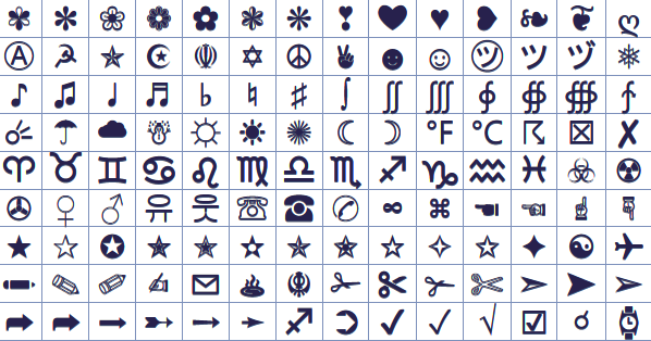 Star Symbols Symbols Emoticons