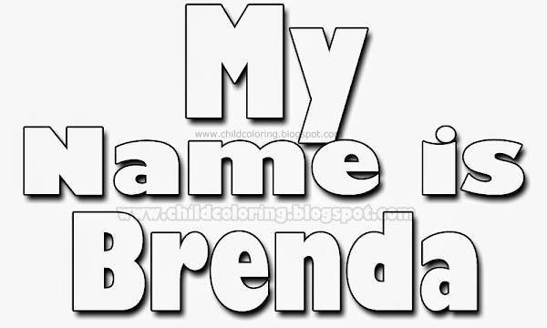 Brenda Name Coloring Pages