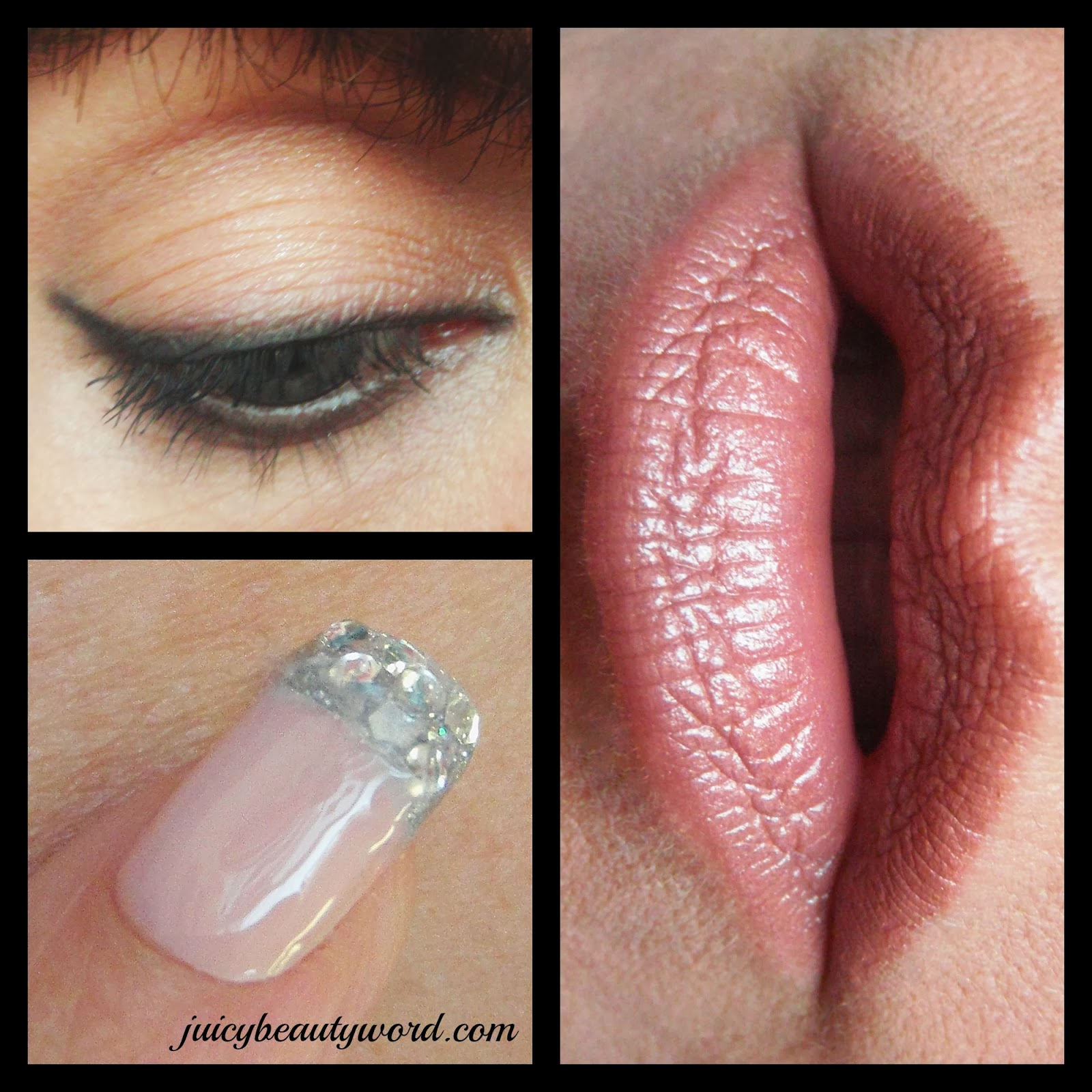 nude makeup collage