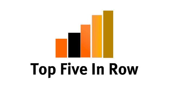 Top five in row