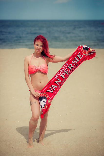 Anna with Manchester United scarf
