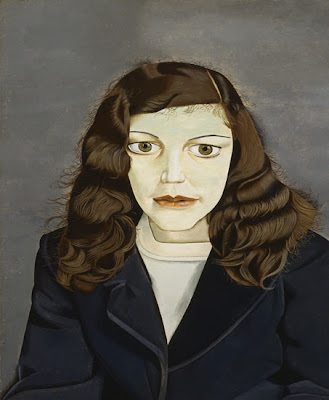 portrait artist Lucian Freud's painting of Girl in a dark jacket