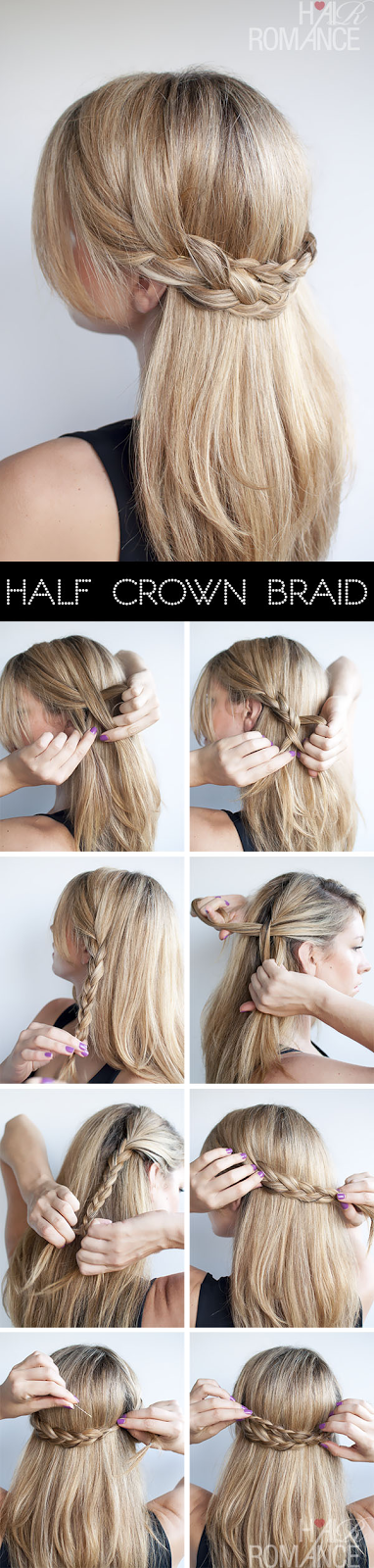 Half Crown Braid Easy Way to get such Hair style