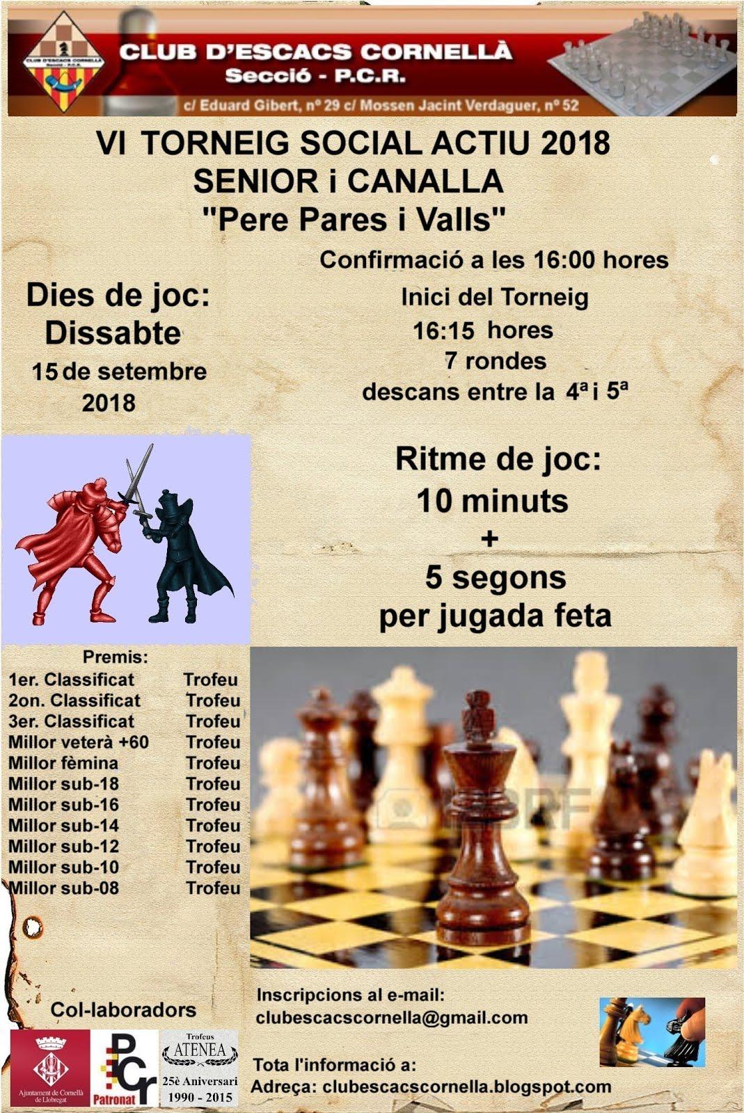 """VI Social Actiu """"Pere Pares i Valls"""""""