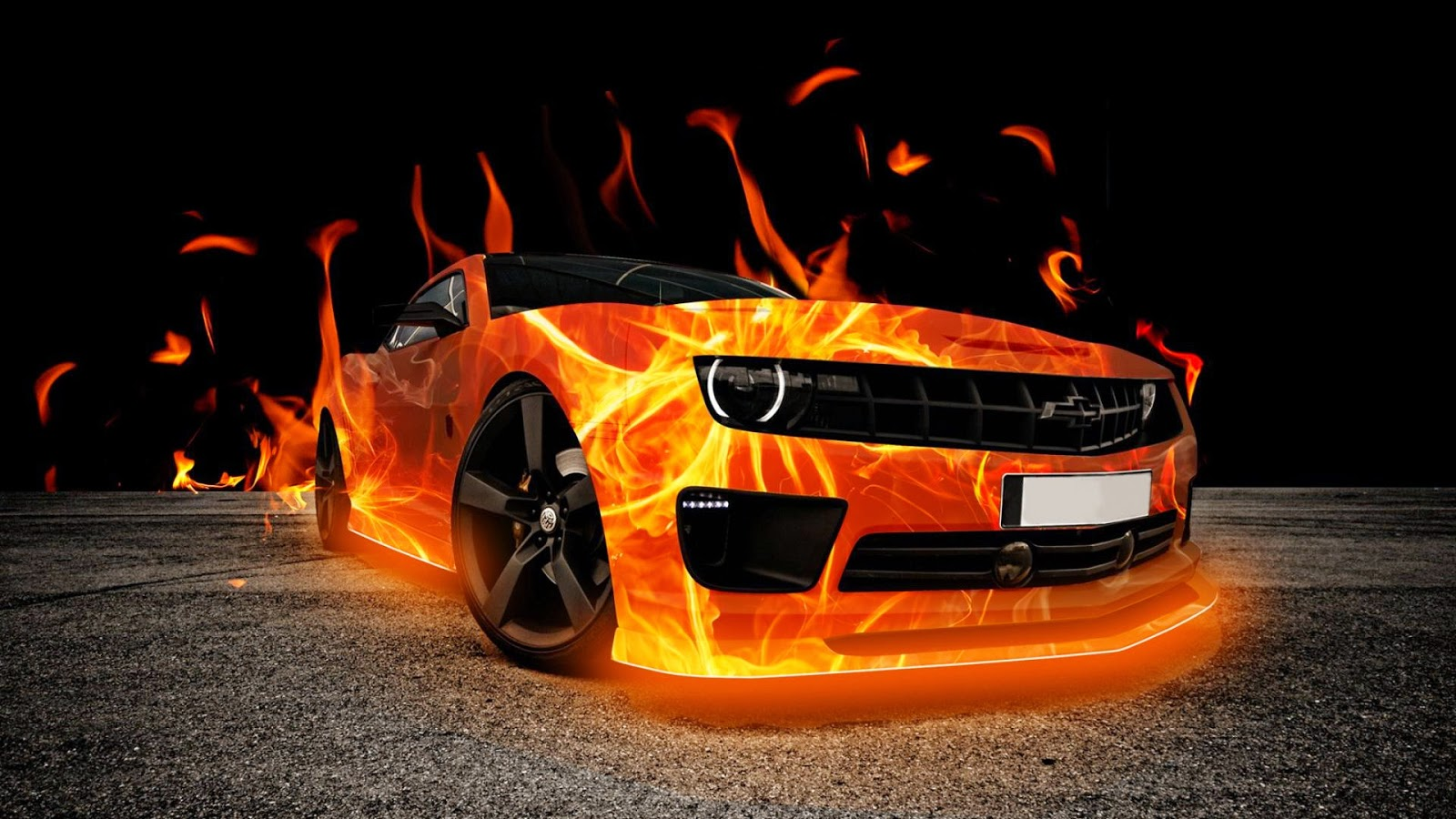 Fire Wallpapers Of Cars For Desktop