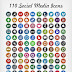 Mas de 100 iconos de redes sociales cosidos a mano gratis.
