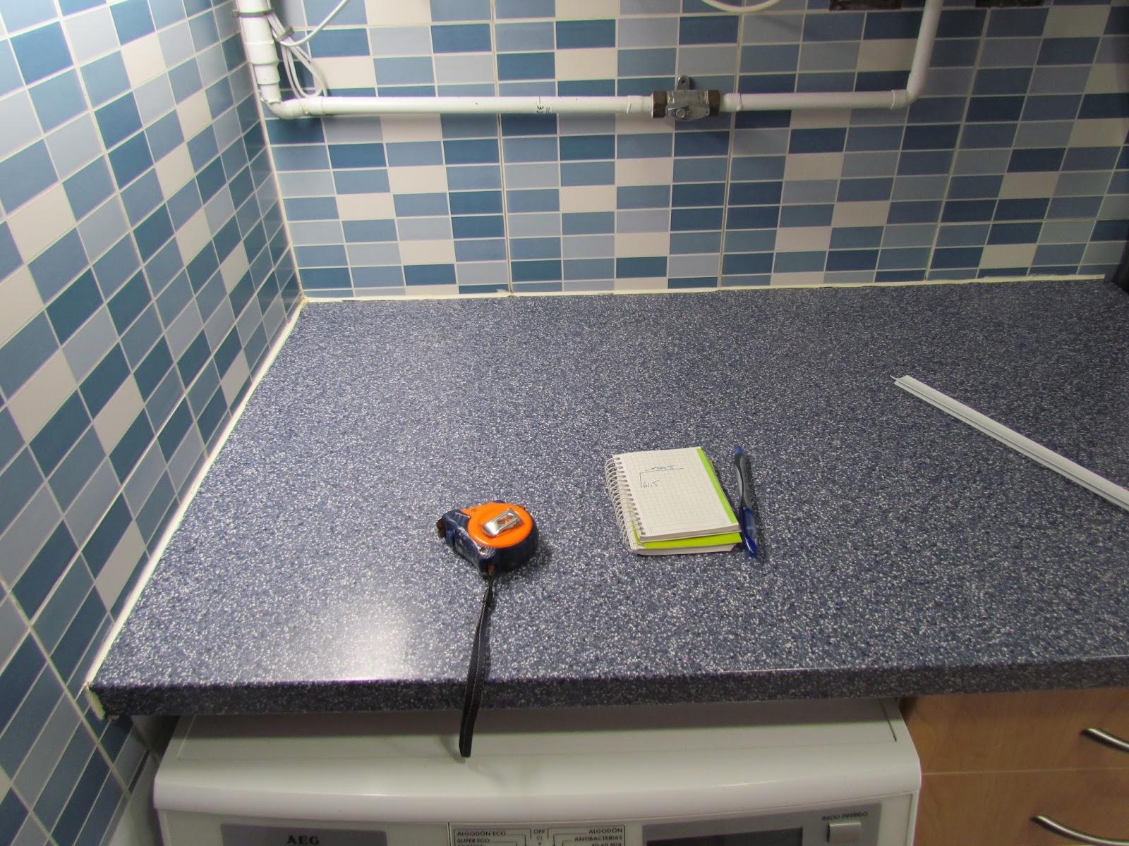 bricolaje hazlo tu mismo perfil encimera de cocina