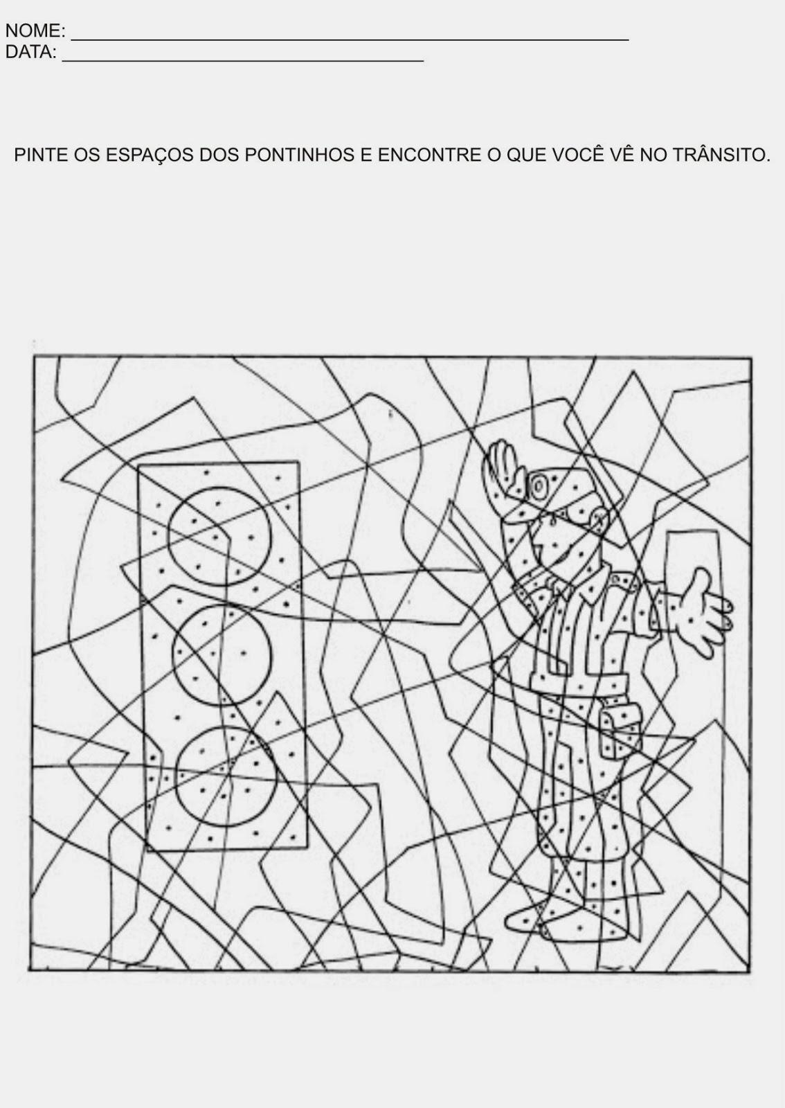 Atividades de Artes para Educação Infantil - Lições de trânsito