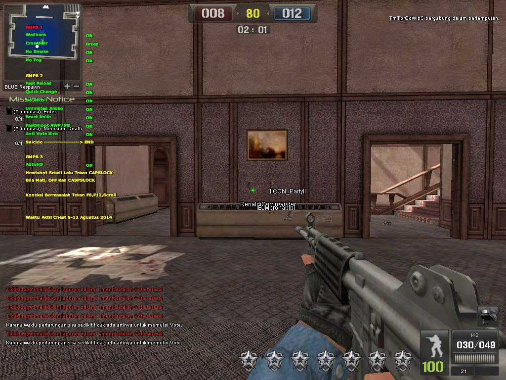 Cheat Point Blank D3D Menu 10 Agutus 2014