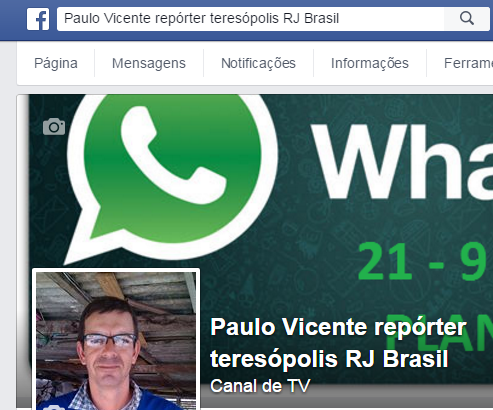 PAULO VICENTE NO FACE BOOK