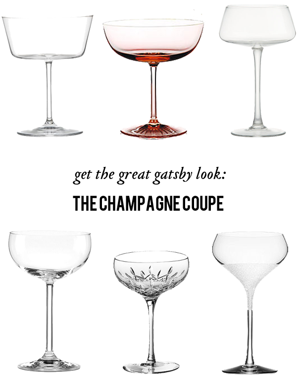 great gatsby champagne glasses