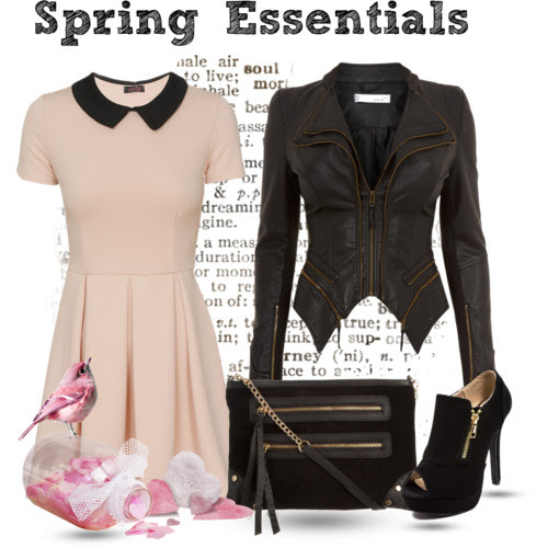 Spring must-haves: leather jacket and skater dress. Visit www.forarealwoman.com