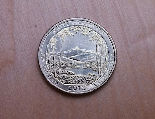 2013 America the Beautiful White Mountain state park quarter found coin roll hunting