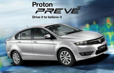Rekabentuk luaran Proton Preve.