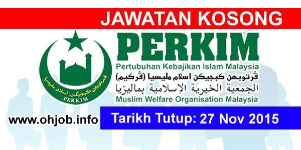 Jawatan Kerja Kosong Pertubuhan Kebajikan Islam Malaysia (PERKIM) logo www.ohjob.info november 2015