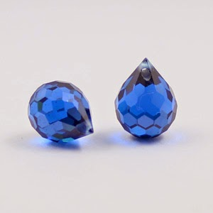 Blue Cubic Zirconia Onion Briolette