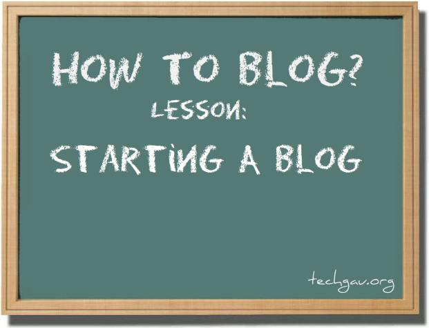 Where To Start A Blog?