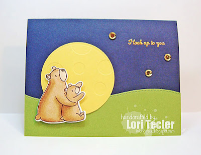 I Look Up to You card-designed by Lori Tecler/Inking Aloud-stamps and dies from Mama Elephant