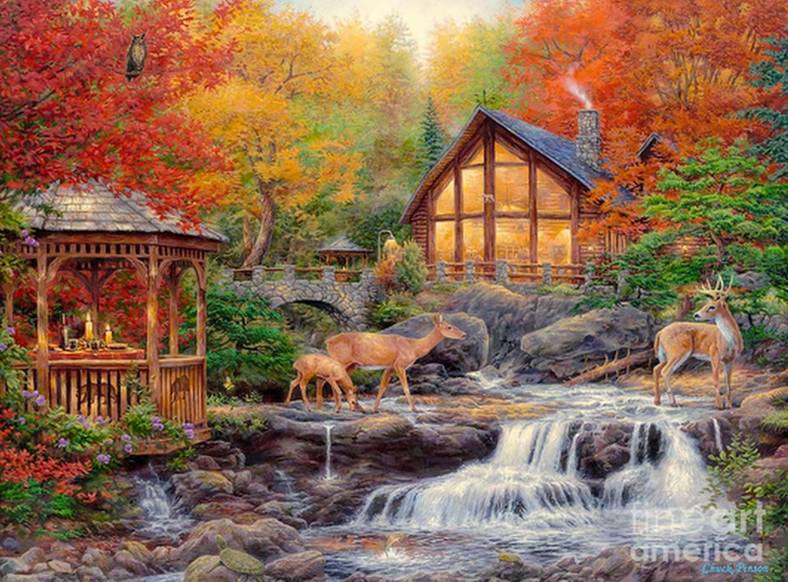 Cuadros modernos pinturas y dibujos hermosos paisajes al - Cuadros en casa ...