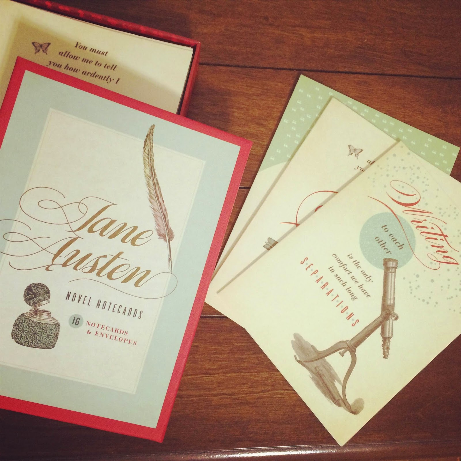 Jane Austen themed notecards
