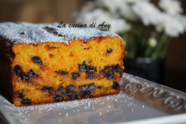 cake con zucca, cioccolato e cannella - chec cu dovleac, ciocolata si scortisoara