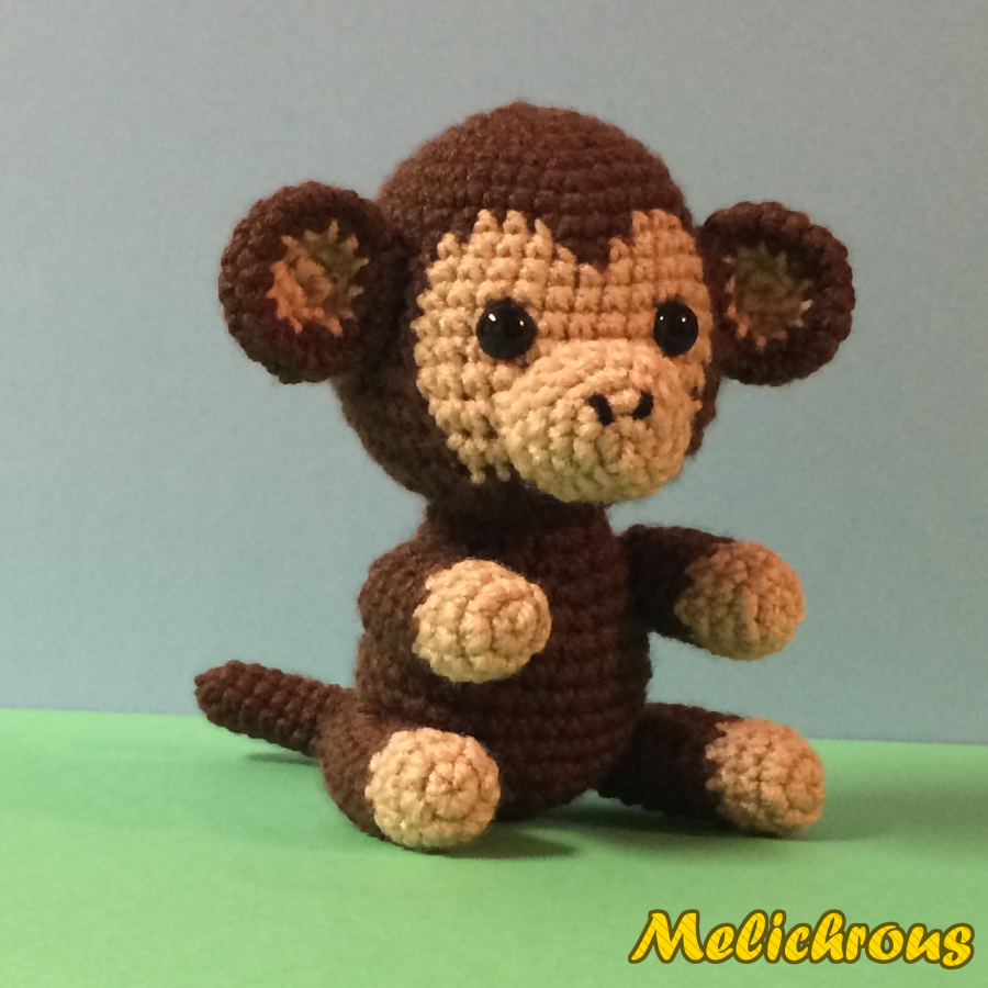Amigurumi Gorilla Pattern : Melichrous: Mango the Monkey Pattern