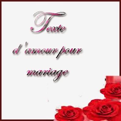 Texte d'amour pour mariage
