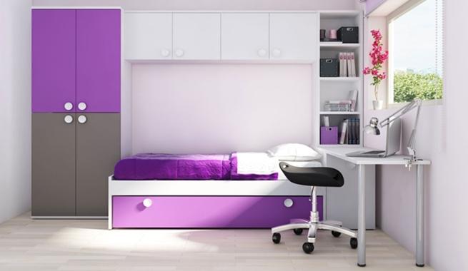 Marzua dormitorios juveniles con cama puente for Cama sencilla