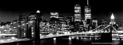 Image couverture facebook ville noir et blanc