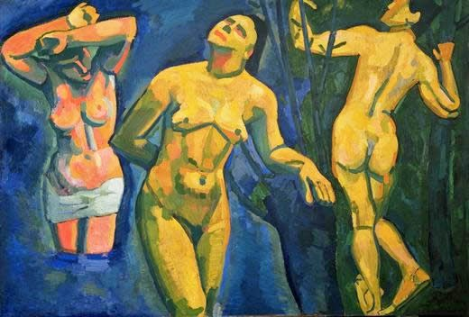 pintura de mulheres no banho
