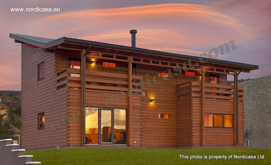 Vivienda contemporánea de madera en España