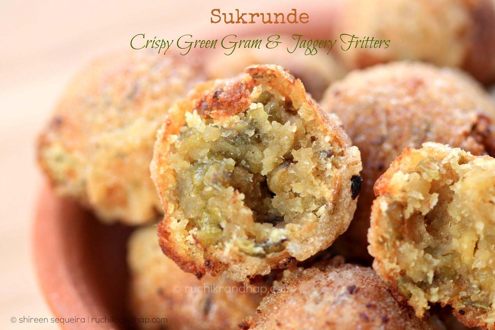 Sukrunde (Crispy Green Gram & Jaggery Fritters) - Christmas ...