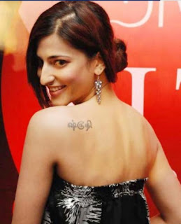 Tamil Actress Shruti Hassan Tattoos - Celebrity Tattoo Ideas