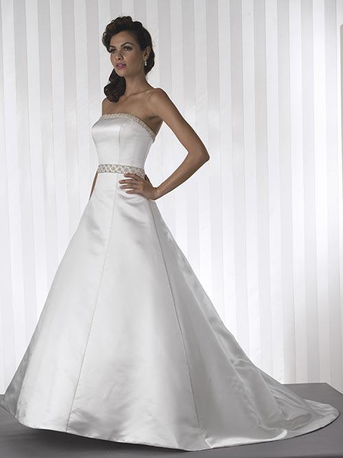 strapless white wedding dresses