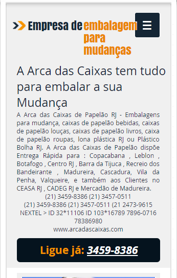 EMBALAGENS NO RIO DE JANEIRO RJ