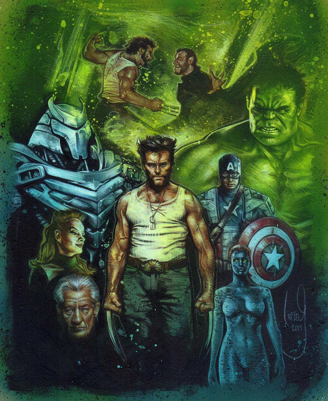 Hugh Jackman Wolverine, Artwork is Copyright © 2014 Jeff Lafferty