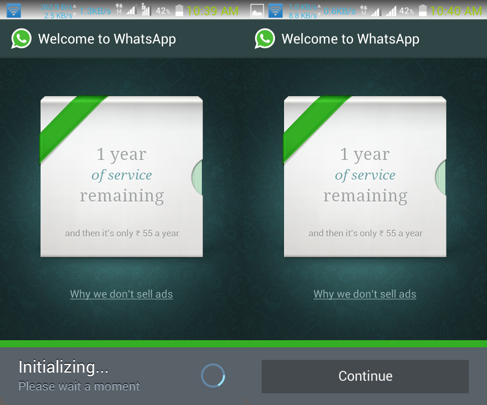 Whatsapp Initialization