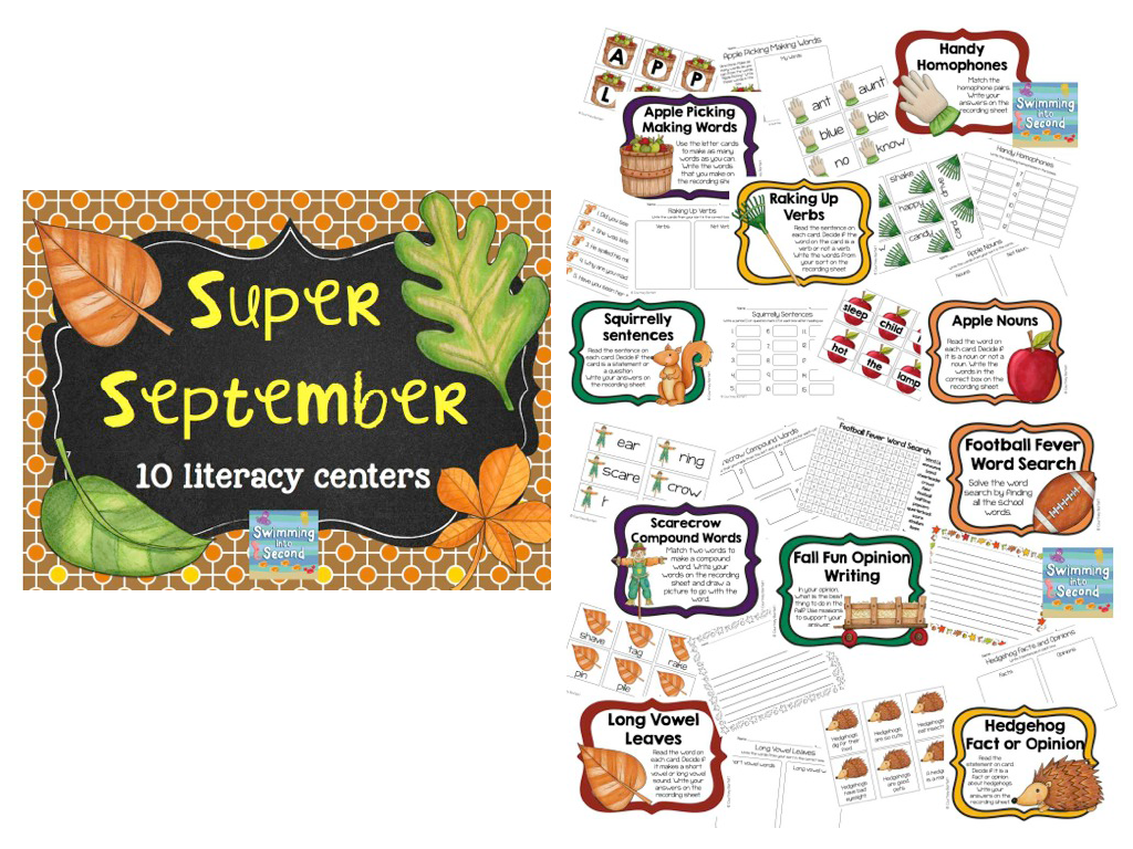 http://www.teacherspayteachers.com/Product/Super-September-center-bundle-1357513
