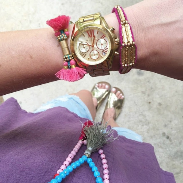 Tassel necklaces and noonday bracelets