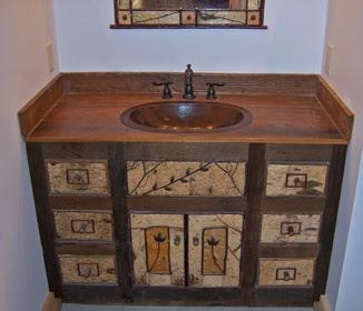 Muebles de ba o r sticos dise os de ba os for Muebles de cuarto de bano grandes