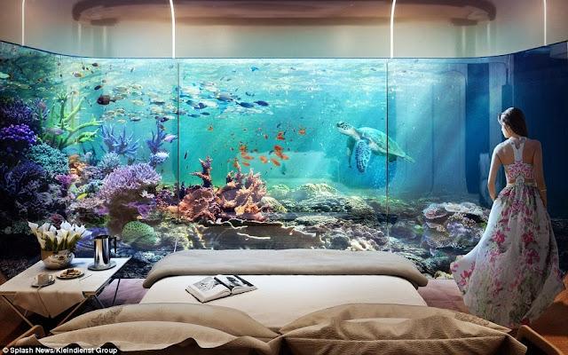 غرفة النوم تحت الماء