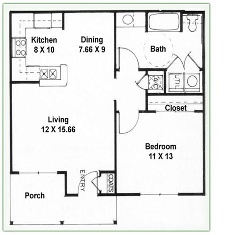 Apartment Floor Plans One Bedroom
