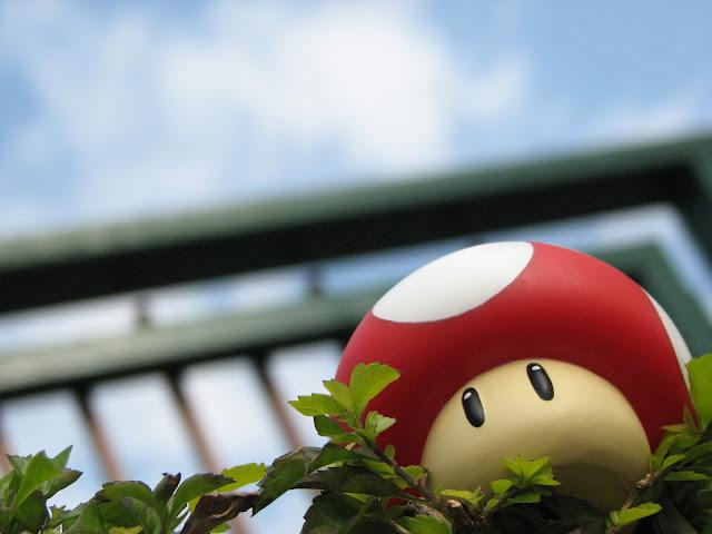 mario mushroom 3d red