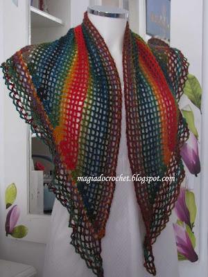 Magia do Crochet: Xaile em crochet