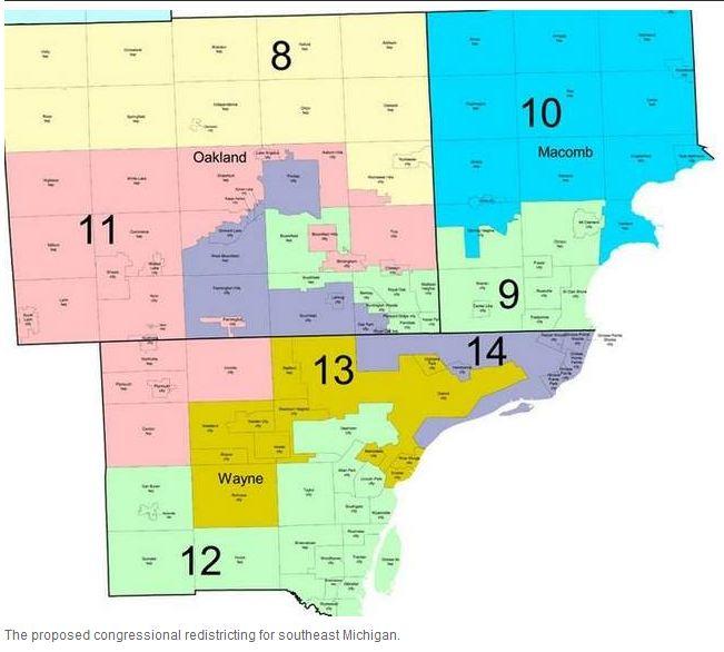 DC Barroco The Mitten Tightens In Michigan Redistricting