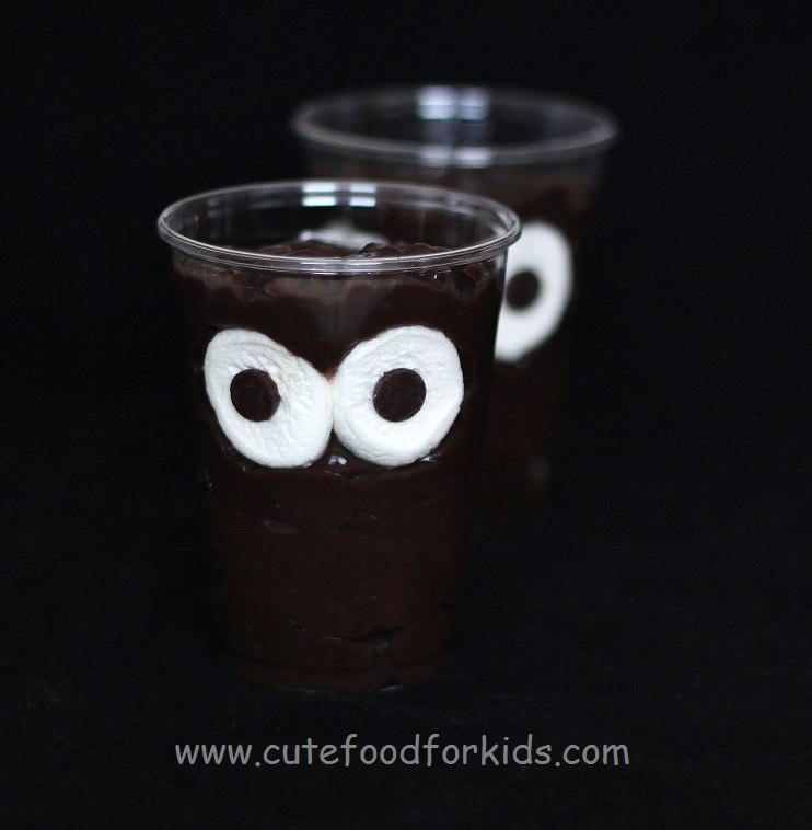 Cute Food For Kids Halloween Snack Idea Monster In My Cup