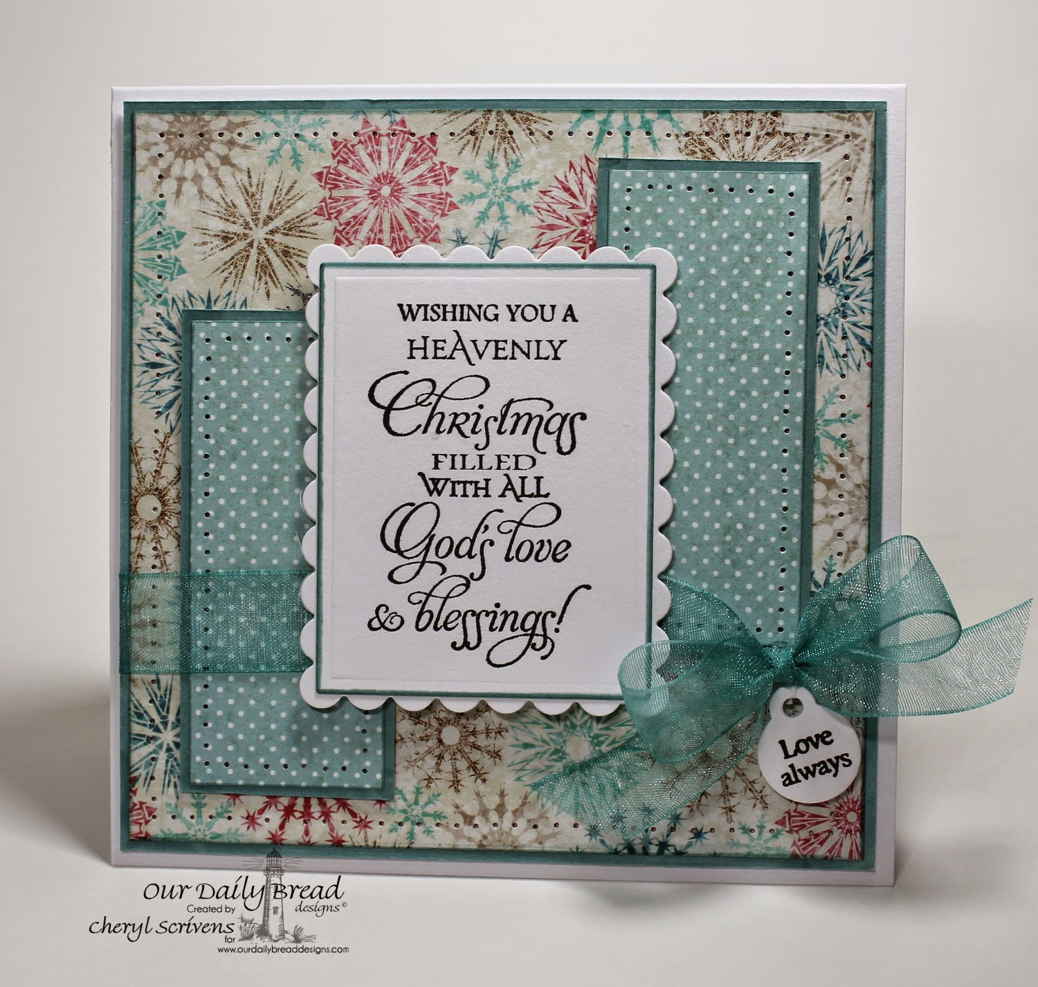 Our Daily Bread Designs, ODBDSLC220, Christmas Blessings, Mini Tag Sentiments, Mini Tags dies, Christmas Paper Collection 2014, CherylQuilts, Designed by Cheryl Scrivens